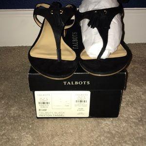 New Talbots Tassel Sandals